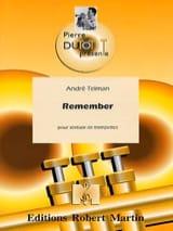 Remember André Telman Partition Trompette - laflutedepan.com