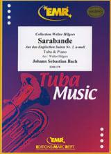 Sarabande BACH Partition Tuba - laflutedepan