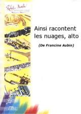 Ainsi Racontent les Nuages Francine Aubin Partition laflutedepan