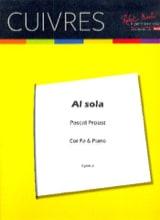 Al sola Pascal Proust Partition Cor - laflutedepan.com