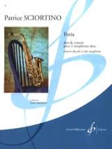 Furia Patrice Sciortino Partition Saxophone - laflutedepan