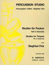 Studies For Timpani Volume 3 - Advanced Siegfried Fink laflutedepan