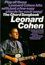 The Chord Songbook Leonard Cohen Partition laflutedepan.com