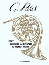 Daily Exercices And Scales For French Horn G. Parès laflutedepan.com