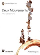 Deux Mouvements André Waignein Partition Saxophone - laflutedepan.com