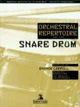 Orchestral repertoire for the snare drum Partition laflutedepan.com