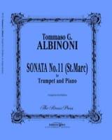 Sonata N° 11 St Marc Tomaso Albinoni Partition laflutedepan.com