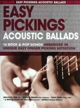 Easy Pickings Acoustic Ballads Partition Guitare - laflutedepan.com