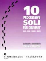 10 Progressives Soli Joachim Sponsel Partition Batterie - laflutedepan