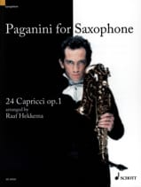 Niccolo Paganini - Paganini For Saxophone, 24 Caprices Opus 1 - Partition - di-arezzo.fr