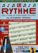 Tostivint Jean-Michel / Rébillard Jean-Jacques - Le rythme volume 2: Les mesures composées/Rom - Partition - di-arezzo.fr