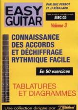 Perrot Eric / Rébillard Jean-Jacques - Easy guitar volume 3: Connaissance des accords et déchiffrage rythmique facile a - Partition - di-arezzo.fr