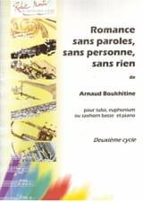 Arnaud Boukhitine - Romance Sans Paroles, Sans Personne, Sans Rien - Partition - di-arezzo.fr