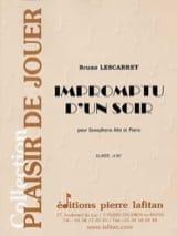 Bruno Lescarret - Impromptu D' Un Soir - Partition - di-arezzo.fr