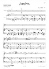 Orange Tango Alain Lopez Partition Saxophone - laflutedepan.com