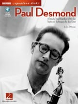 Paul Desmond - Paul Desmond Saxophone Signature Licks - Sheet Music - di-arezzo.com
