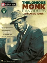 Thelonious Monk - Jazz play-along volume 91 - Thelonious Monk - Partition - di-arezzo.fr