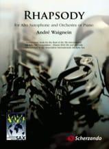 Rhapsody André Waignein Partition Saxophone - laflutedepan.com