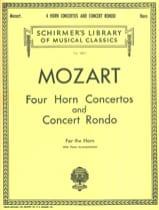 Four Horn Concertos And Concert Rondo MOZART laflutedepan.com