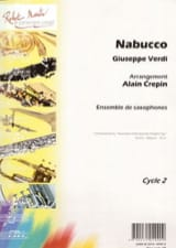 Nabucco - Giuseppe Verdi - Partition - Saxophone - laflutedepan.com