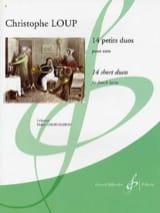 14 Petits Duos Christophe Loup Partition Cor - laflutedepan.com