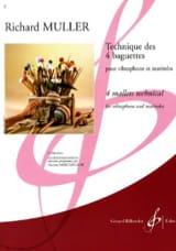 Richard Muller - Technique des 4 Baguettes - Partition - di-arezzo.fr