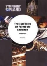 Julio Prieto - Trois Poésies en Forme de Cadence - Partition - di-arezzo.fr