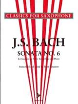 BACH - Sonata N° 6 - Partition - di-arezzo.fr
