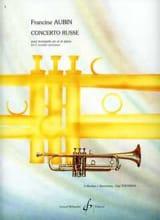 Concerto Russe Francine Aubin Partition Trompette - laflutedepan.com