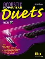 Acoustic pop guitar duets Partition Guitare - laflutedepan.com