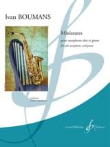 Miniatures Ivan Boumans Partition Saxophone - laflutedepan