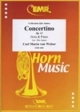 Carl Maria von Weber - Concertino Opus 45 - Sheet Music - di-arezzo.co.uk