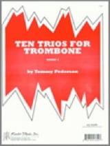 Ten (10) Trios Tommy Pederson Partition Trombone - laflutedepan.com