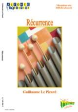 Récurrence Picard Guillaume Le Partition Vibraphone - laflutedepan.com