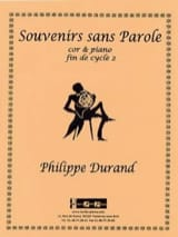 Philippe Durand - Souvenirs without words - Sheet Music - di-arezzo.com
