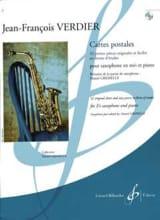 Cartes postales - Jean-Francois Verdier - Partition - laflutedepan.com