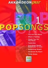 Akkordeon Pur - Pop Songs 1 Partition Accordéon - laflutedepan.com