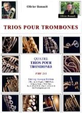 4 Trios pour trombones Olivier Renault Partition laflutedepan.com