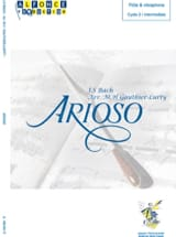 Arioso BACH Partition Vibraphone - laflutedepan.com