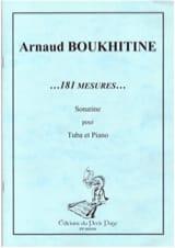 Arnaud Boukhitine - 181 Mesures... Sonatine - Partition - di-arezzo.fr
