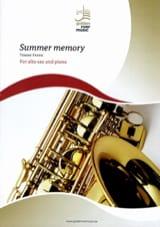 Summer memory Frank Tomme Partition Saxophone - laflutedepan.com