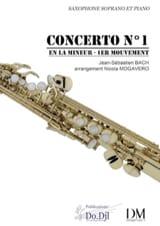 BACH - Concerto N° 1 en La mineur - 1er mouvement - Partition - di-arezzo.fr