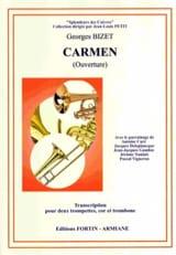 Carmen Ouverture - Quatuor de Cuivres BIZET Partition laflutedepan.com