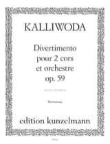 Divertimento opus 59 J. Wezeslaus kalliwoda Partition laflutedepan.com