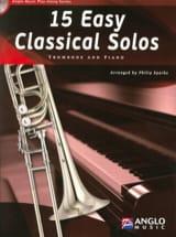 15 Easy classical solos Partition Trombone - laflutedepan.com