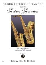 Sieben sonaten opus 1 HAENDEL Partition Saxophone - laflutedepan.com