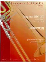 Impromptu Eugène Bigot Partition Trombone - laflutedepan.com