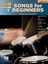 Drum play-along volume 32 Songs for beginners Partition laflutedepan