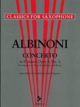 Concerto in D-minor opus 9 N° 2 Tomaso Albinoni laflutedepan.com