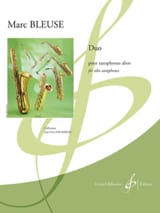 Duo Marc Bleuse Partition Saxophone - laflutedepan.com